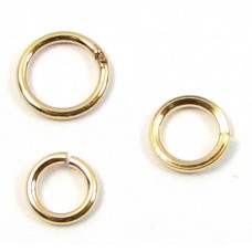 100 6mm Gold plated jump rings