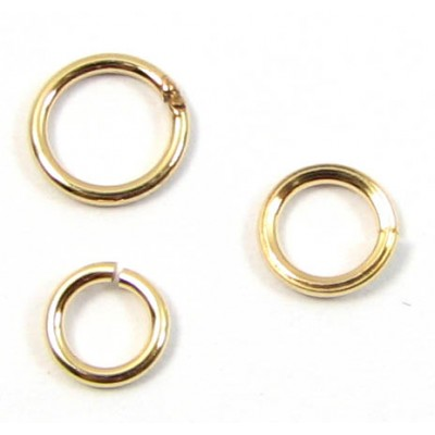 50 8mm Gold plated jump rings