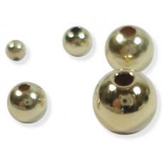 10 Gold Filled Round Beads 5mm