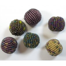 6 Fairtrade Jabulani Shimmer 16mm Beads