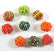 9 Fairtrade Jabulani Carribean 10mm Beads