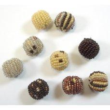 9 Fairtrade Jabulani Natural 12mm Beads