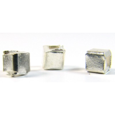 10 Karen Hill Tribe Silver 3mm Cube Beads