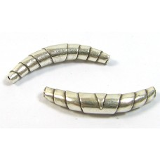 1 Karen Hill Tribe Silver Curved Wrap Bead