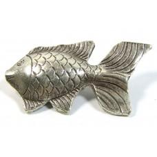 1 Karen Hill Tribe Silver Fish Pendant
