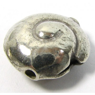 1 Karen Hill Tribe Silver Nautilus Shell Bead
