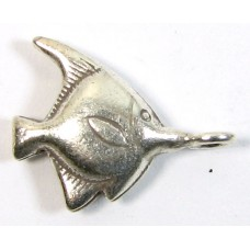 1 Karen Hill Tribe Silver Angelfish Charm with a Hanging Loop