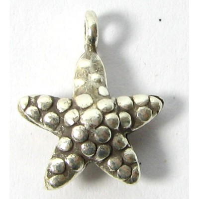 1 Karen Hill Tribe Silver Little Starfish Charm with Hanging Loop