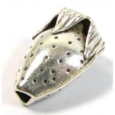 1 Karen Hill Tribe Silver Through Hole Strawberry Bead