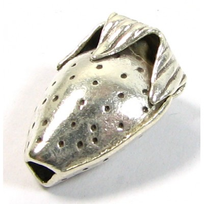 1 Karen Hill Tribe Silver Through Hole Strawberry Bead