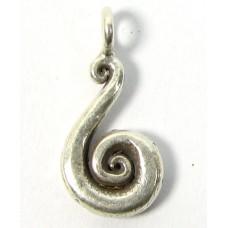 1 Karen Hill Tribe Silver Swan Curl Charm