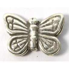 1 Karen Hill Tribe Silver Gorgeous Butterfly Bead