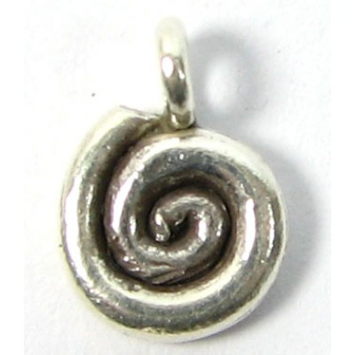 1 Karen Hill Tribe Silver Tight Swirl Charm