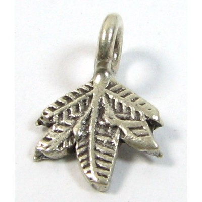 1 Karen Hill Tribe Silver Small Leaf Charm