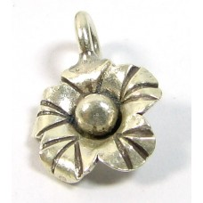 1 Karen Hill Tribe Silver Small Flower Charm