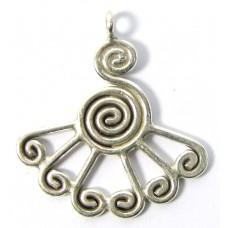 1 Karen Hill Tribe Silver Peacock Pendant