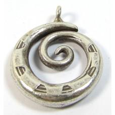 1 Karen Hill Tribe Silver Coiled Pendant