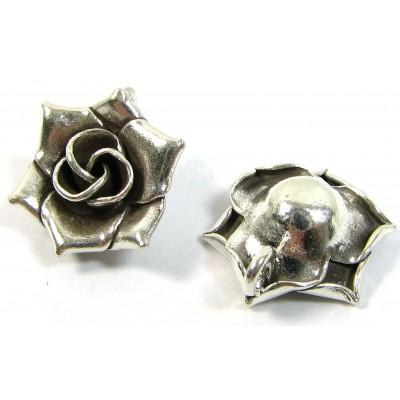 1 Karen Hill Tribe Silver Small Rose Pendant