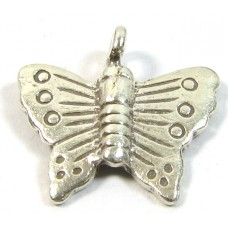 1 Karen Hill Tribe Silver Butterfly Charm
