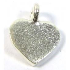 1 Karen Hill Tribe Silver Flat Heart Charm