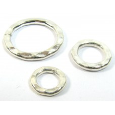 1 Karen Hill Tribe Silver Hammered 10mm Ring