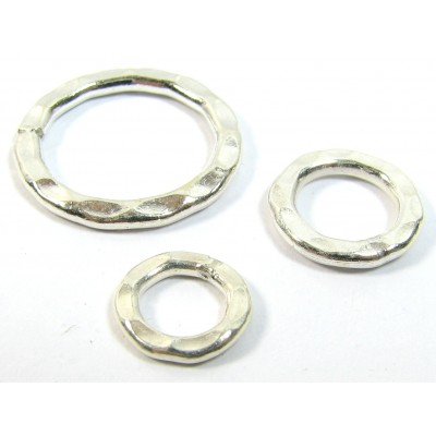 1 Karen Hill Tribe Silver Hammered 13mm Ring