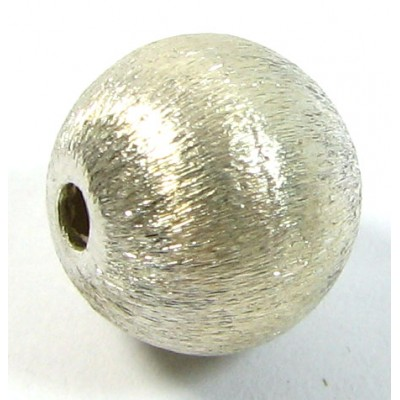 1 Karen Hill Tribe Silver Brushed Effect 11mm Round Bead