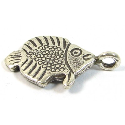 1 Karen Hill Tribe Silver Fishy Charm with Loop