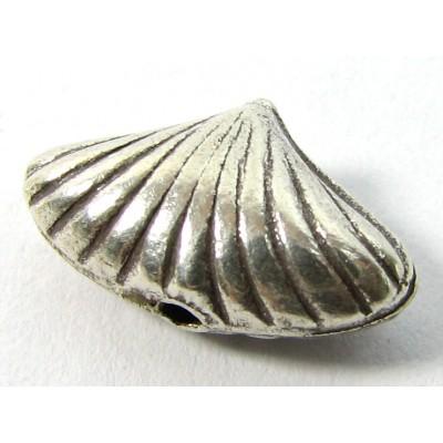 1 Karen Hill Tribe Silver Shell Bead
