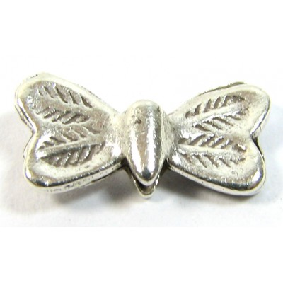 1 Karen Hill Tribe Silver Stamped Butterfly Bead