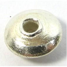 1 Karen Hill Tribe Silver Shiny Rondelle Bead