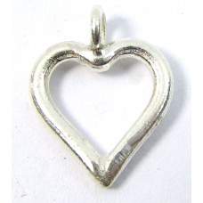 1 Karen Hill Tribe Silver Open Heart Charm