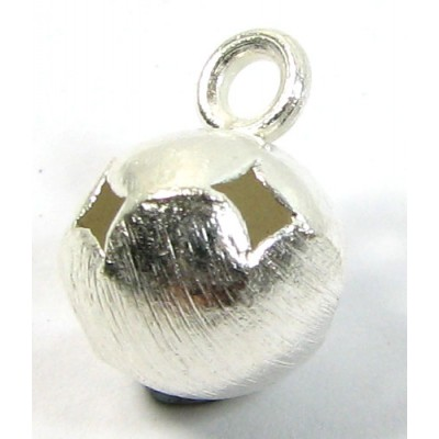 1 Karen Hill Tribe Silver Brushed Pierced Bauble Charm