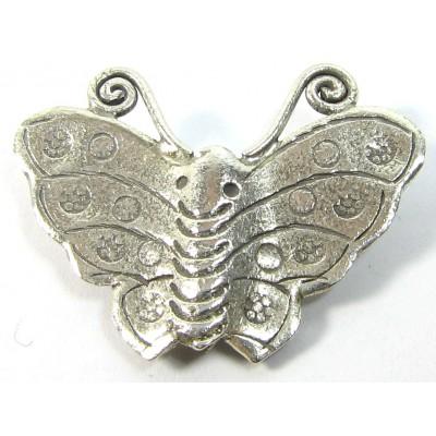 1 Karen Hill Tribe Silver Butterfly Bead