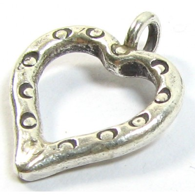 1 Karen Hill Tribe Silver Small Open Heart Pendant