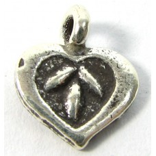 1 Karen Hill Tribe Silver Heart Charm