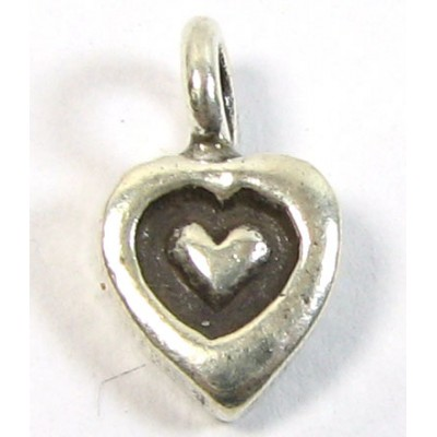 1 Karen Hill Tribe Silver Tiny Heart Charm