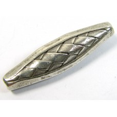 1 Handmade Karen Hill Tribe Silver Long Oval Focal Bead