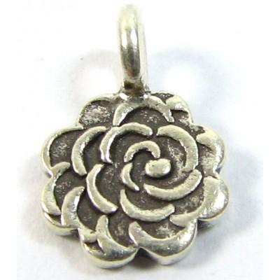 1 Karen Hill Tribe Silver Flower Charm
