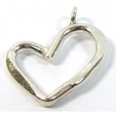 1 Karen Hill Tribe Silver Open Heart Pendant