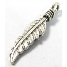1 Karen Hill Tribe Silver Leaf Charm
