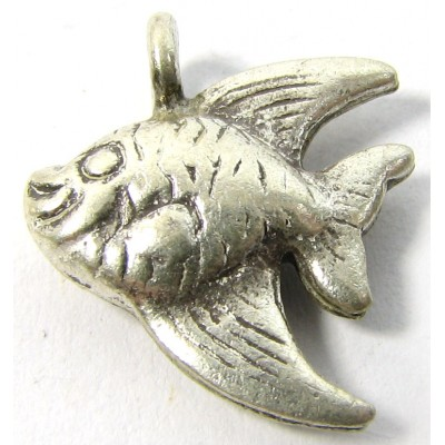 1 Karen Hill Tribe Silver Small AngelFish Charm Pendant
