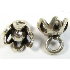 1 Karen Hill Tribe Silver Tiny Flower Charm