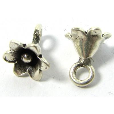 1 Karen Hill Tribe Silver Tiny Flower Charm