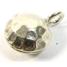 1 Karen Hill Tribe Silver Hammered Lentil Charm