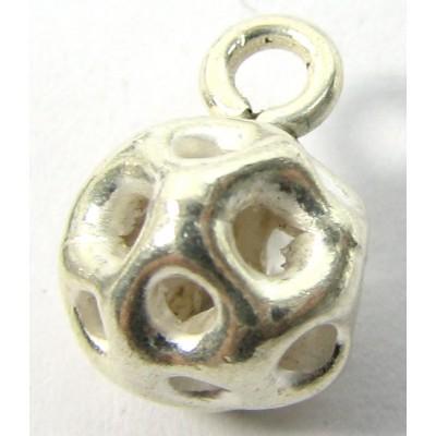 1 Karen Hill Tribe Silver Lattice Bead Charm