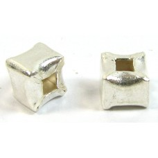 1 Karen Hill Tribe Silver Cube Bead