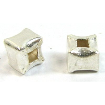1 Karen Hill Tribe Silver Cube Bead
