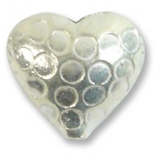 1 Karen Hill Tribe Silver Small Hammered Heart Bead