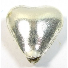 1 Karen Hill Tribe Silver Bright Heart Bead